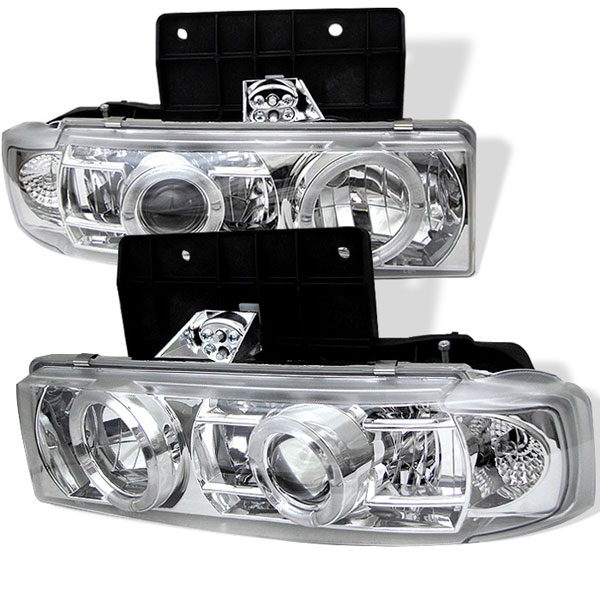 Spyder (5009227)  GMC Safari 95-05 Halo Projector Headlights - Chrome  - (PRO-YD-CA95-HL-C)