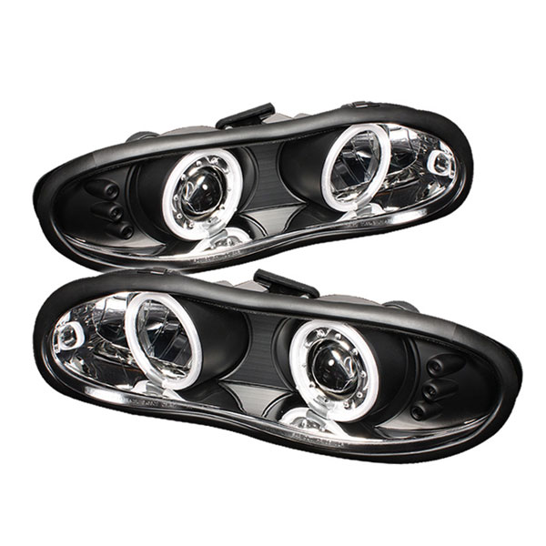 Spyder PRO-YD-CCAM98-CCFL-BK:  Chevrolet Camaro 98-02 CCFL LED ( Replaceable LEDs ) Projector Headlights - Black