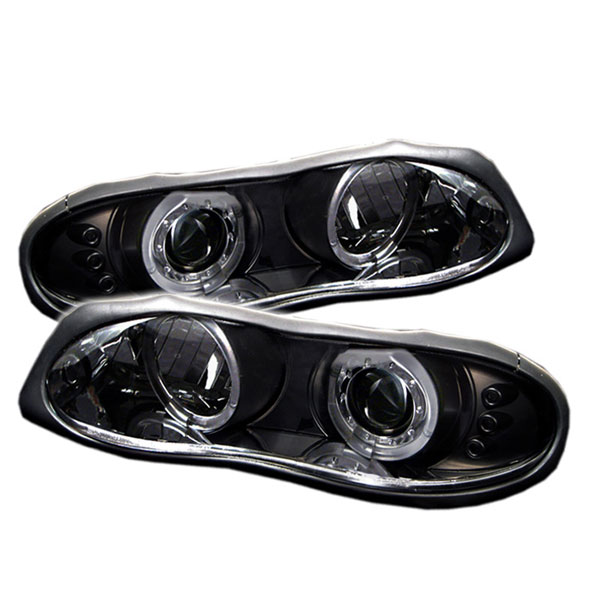 Spyder (5009234)  Camaro 98-02 Halo Led Projector Headlights - Black V8 / V6  - (PRO-YD-CCAM98-HL-BK)