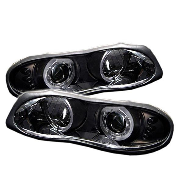 Spyder 5009234 |  Camaro Halo Led Projector Headlights - Black V8 / V6 - (PRO-YD-CCAM98-HL-BK); 1998-2002
