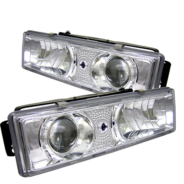 Spyder PRO-YD-CCK88-C:  C-10 88-98 C/k Series Halo Projector Headlights - Chrome
