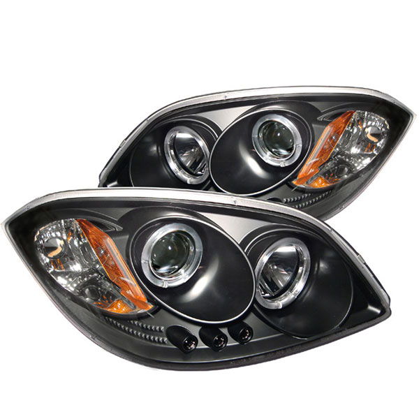 Spyder 5009326:  Cobalt 05-07 Halo Led Projector Headlights - Black  - (PRO-YD-CCOB05-HL-BK)