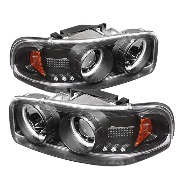Spyder PRO-YD-CDE00-CCFL-BK:  GMC Sierra Denali 02-07 CCFL LED ( Replaceable LEDs ) Projector Headlights - Black