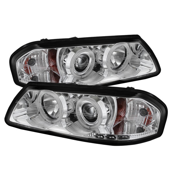 Spyder PRO-YD-CHIP00-CCFL-C:  Chevrolet Impala 00-05 CCFL LED ( Non Replaceable LEDs ) Projector Headlights - Chrome
