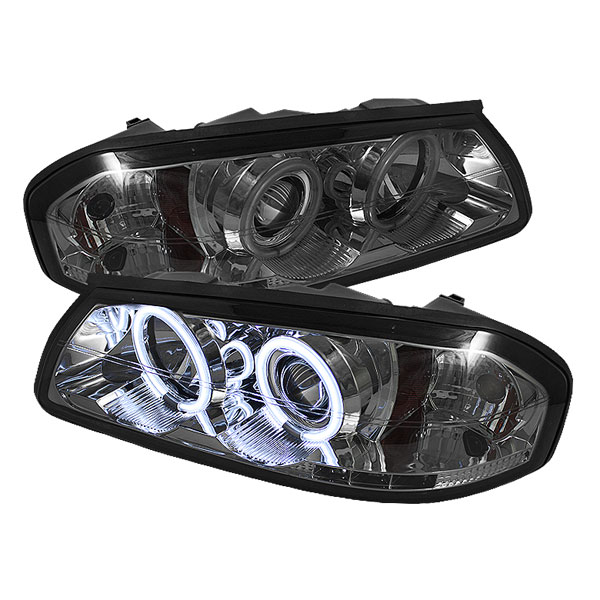 Spyder (5064158)  Chevrolet Impala 00-05 CCFL LED ( Non Replaceable LEDs ) Projector Headlights - Smoke  - (PRO-YD-CHIP00-CCFL-SM)