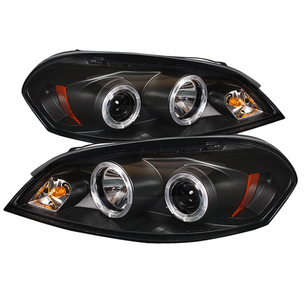 Spyder PRO-YD-CHIP06-HL-BK:  Chevrolet Monte Carlo 06-07 Halo LED ( Replaceable LEDs ) Projector Headlights - Black