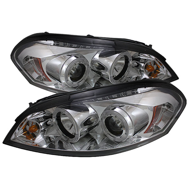 Spyder PRO-YD-CHIP06-HL-C:  Chevrolet Impala 06-10 Halo LED ( Replaceable LEDs ) Projector Headlights - Chrome