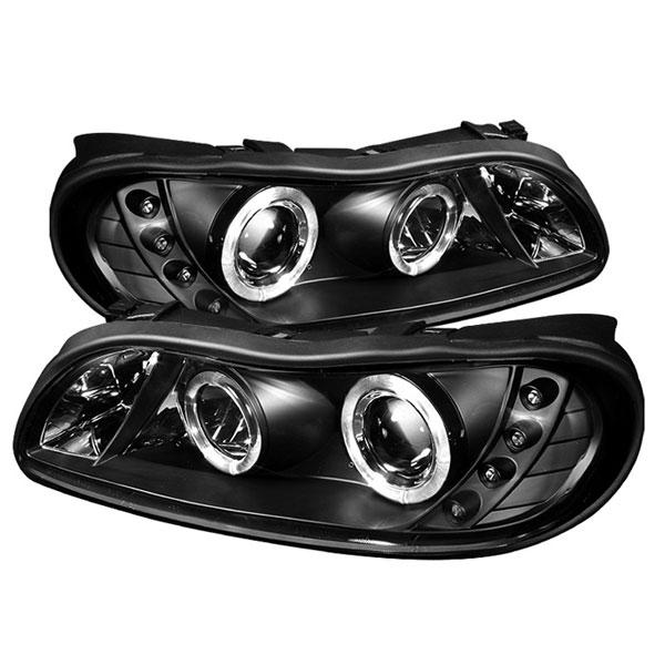 Spyder 5029102    Chevrolet Malibu 97-03 Halo LED ( Replaceable LEDs ) Projector Headlights - Black  - (PRO-YD-CM97-HL-BK)