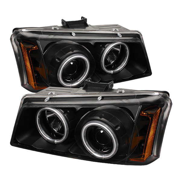 Spyder 5030023:  Chevrolet Silverado 1500HD 03-07 / Silverado 2500HD 03-06 ( Replaceable LEDs ) Projector Headlights - Black  - (PRO-YD-CS03-CCFL-BK)