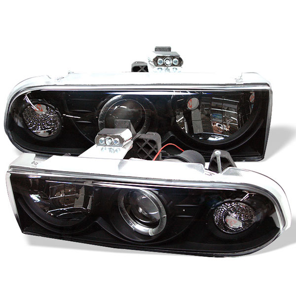 Spyder PRO-YD-CS1098-BK:  Chevrolet S10 98-04 Halo Projector Headlights - Black