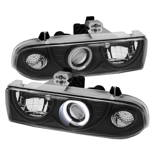 Spyder PRO-YD-CS1098-CCFL-BK:  Chevrolet S10 98-04 CCFL Projector Headlights - Black