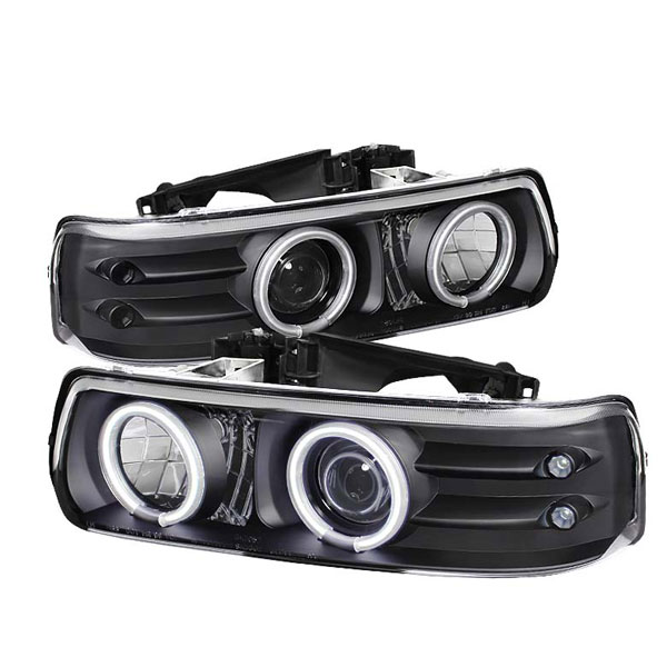 Spyder PRO-YD-CS99-CCFL-BK:  Chevrolet Tahoe 00-06 CCFL LED ( Replaceable LEDs ) Projector Headlights - Black