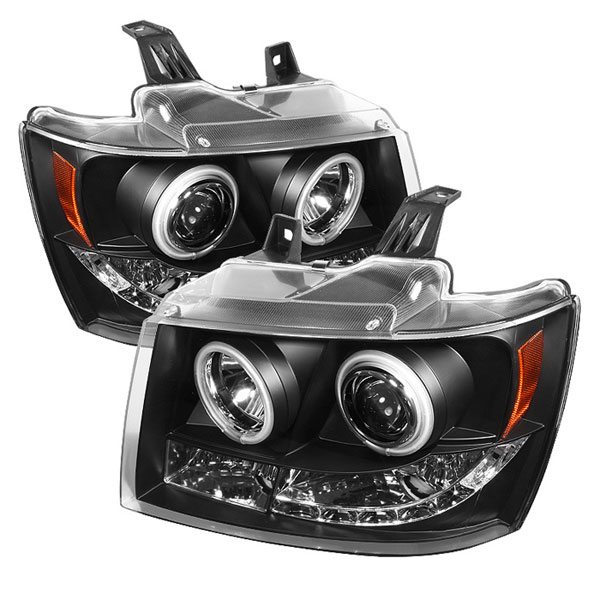 Spyder PRO-YD-CSUB07-CCFL-BK:  Chevrolet Tahoe 07-12 CCFL LED ( Replaceable LEDs ) Projector Headlights - Black