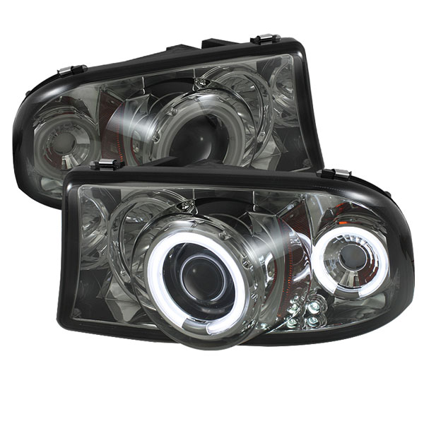 Spyder PRO-YD-DDAK97-CCFL-SM:  Dodge Durango 98-03 1PC CCFL LED ( Replaceable LEDs ) Projector Headlights - Smoke