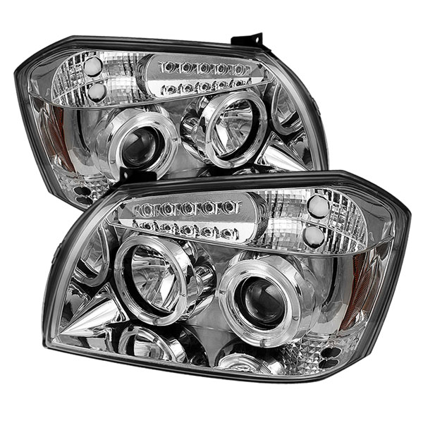 Spyder PRO-YD-DMAG05-LED-C:  Dodge Magnum 05-07 Halo LED ( Replaceable LEDs ) Projector Headlights - Chrome