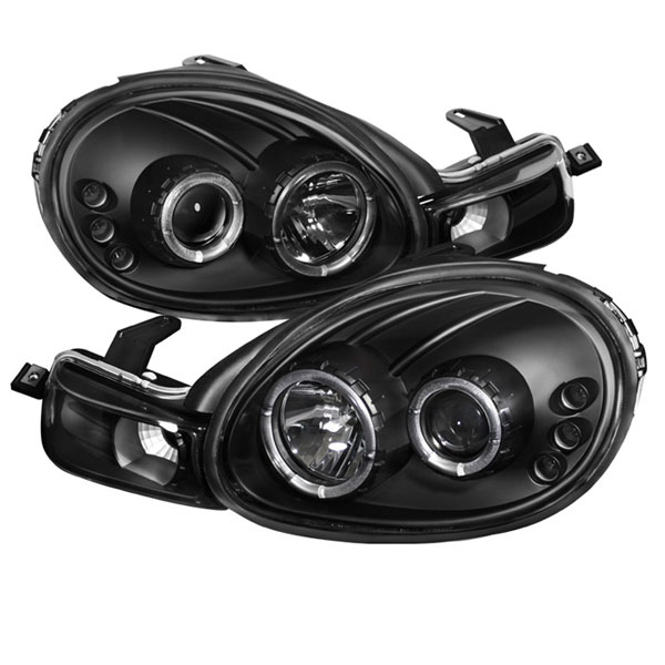 Spyder 5009906:  Dodge Neon 00-02 Halo LED ( Replaceable LEDs ) Projector Headlights - Black  - (PRO-YD-DN00-HL-BK)