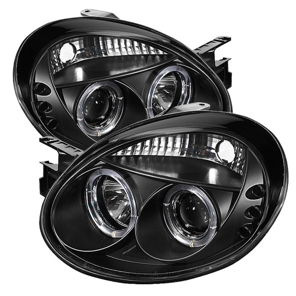 Spyder (5009920)  Dodge Neon 03-05 Halo LED ( Replaceable LEDs ) Projector Headlights - Black  - (PRO-YD-DN03-HL-BK)