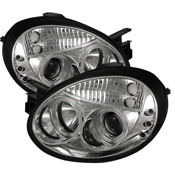 Spyder PRO-YD-DN03-HL-C:  Dodge Neon 03-05 Halo LED ( Replaceable LEDs ) Projector Headlights - Chrome