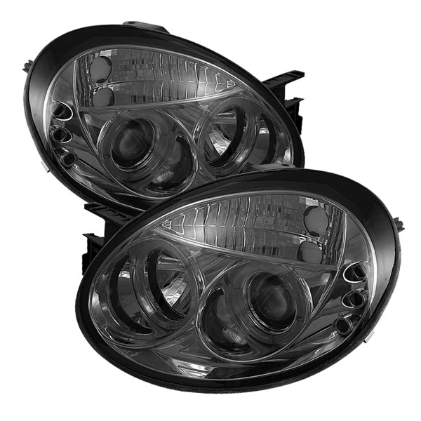 Spyder (5033901)  Dodge Neon 03-05 Halo LED ( Replaceable LEDs ) Projector Headlights - Smoke  - (PRO-YD-DN03-HL-SM)