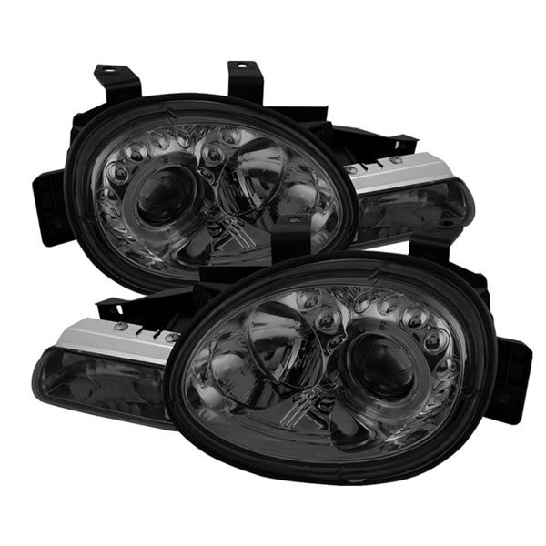 Spyder PRO-YD-DN95-HL-SM:  Dodge Neon 95-99 / Plymouth Neon 95-99Halo Projector Headlights - Smoke