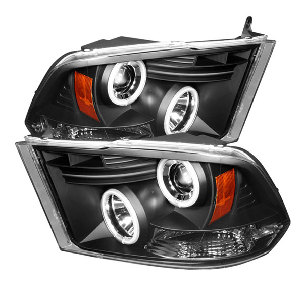 Spyder PRO-YD-DR09-CCFL-BK:  Dodge Ram 2500-5500 09-12 ST SLT (Not Fit Big Horn/Laramie/outdoorsman/Longhorn or Non Quad Headlights ) CCFL LED ( Replaceable LEDs ) Projector Headlights - Black