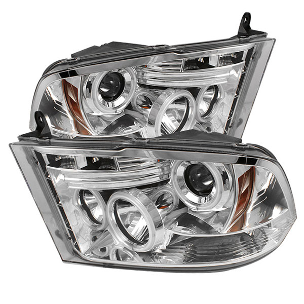 Spyder PRO-YD-DR09-CCFL-C:  Dodge Ram 1500 09-14 ST SLT (Not Fit Big Horn/Laramie/outdoorsman/Longhorn or Non Quad Headlights ) CCFL LED ( Replaceable LEDs ) Projector Headlights - Chrome