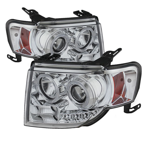 Spyder PRO-YD-FES08-DRL-C:  Ford Escape 08-12 Projector Headlights - Halogen Model Only ( Not Compatible With Xenon/HID Model ) - DRL - Chrome - High H1 (Included) - Low H1 (Included)