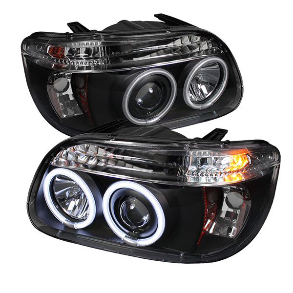 Spyder PRO-YD-FEXP95-CCFL-1PC-BK:  Ford Explorer 95-01 1PC ( Non Sport and Sport Trac Model ) CCFL Projector Headlights - Black
