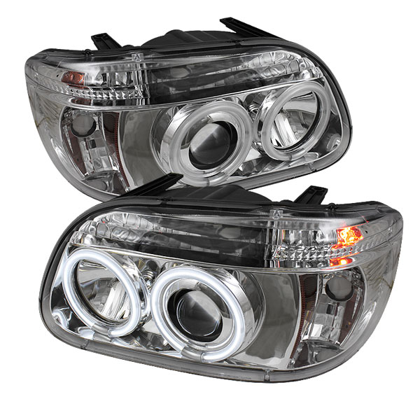 Spyder PRO-YD-FEXP95-CCFL-1PC-C:  Ford Explorer 95-01 1PC ( Non Sport and Sport Trac Model ) CCFL Projector Headlights - Chrome