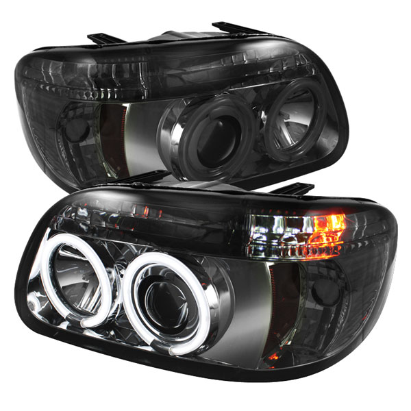 Spyder PRO-YD-FEXP95-CCFL-1PC-SM:  Ford Explorer 95-01 1PC ( Non Sport and Sport Trac Model ) CCFL Halo Projector Headlights - Smoke