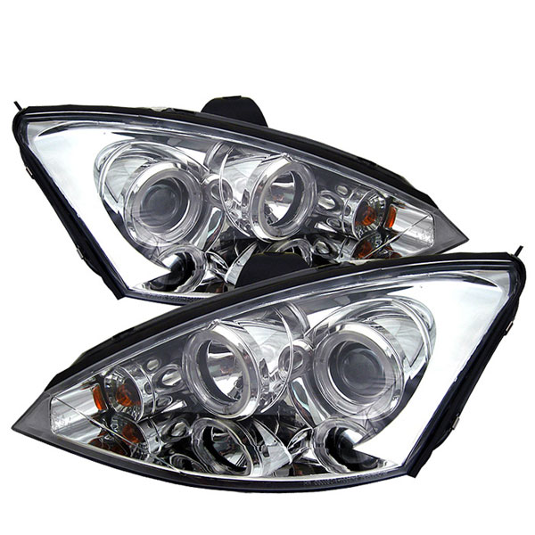 Spyder PRO-YD-FF00-HL-C:  Ford Focus 00-04 Halo Projector Headlights - Chrome