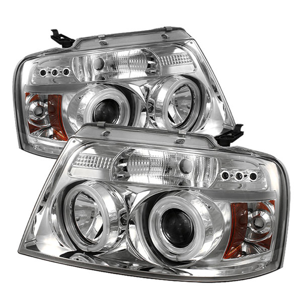 Spyder 5030092:  Ford F150 04-08 Version 2 CCFL LED ( Replaceable LEDs ) Projector Headlights - Chrome  - (PRO-YD-FF15004-CCFL-G2-C)