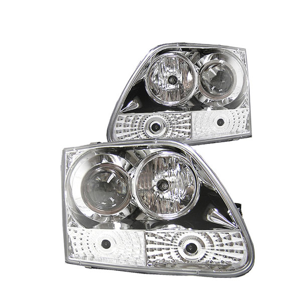 Spyder PRO-YD-FF15097-C:  Ford Expedition 97-02 ( Manu. Date June 1997+ ) Halo Projector Headlights - Chrome