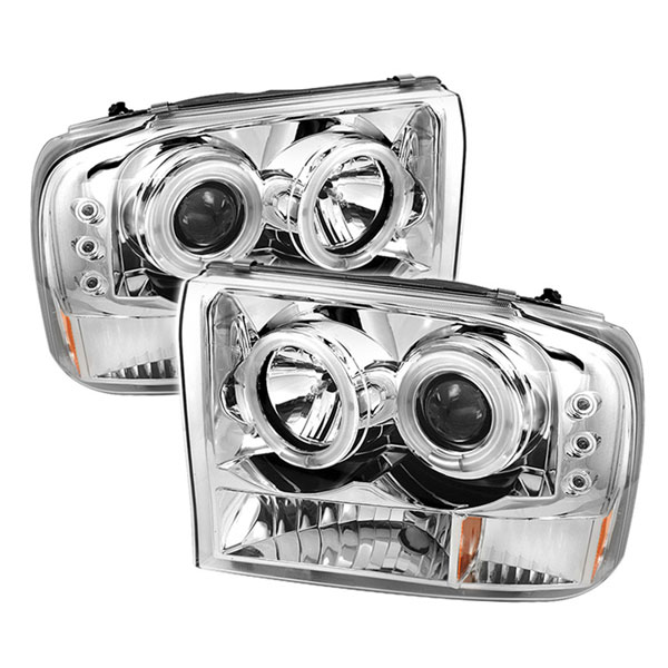 Spyder 5030139:  Ford Excursion 00-05 1PC CCFL LED ( Replaceable LEDs ) Projector Headlights G2 Version - Chrome  - (PRO-YD-FF25099-1P-G2-CCFL-C)