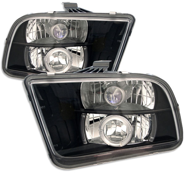 Spyder PRO-YD-FM05-HL-BK:  Ford Mustang 05-09 Halo LED ( Replaceable LEDs ) Projector Headlights - Black