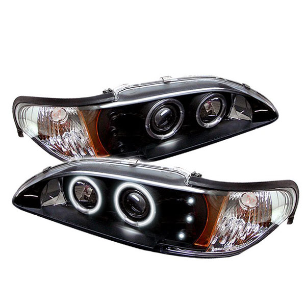 Spyder PRO-YD-FM94-1PC-CCFL-BK:  Ford Mustang 94-98 1PC CCFL LED ( Replaceable LEDs ) Projector Headlights - Black