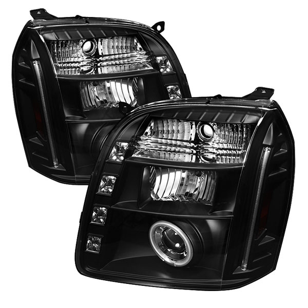 Spyder (5038302)  GMC Yukon 07-12 CCFL LED ( Replaceable LEDs ) Projector Headlights - Black  - (PRO-YD-GY07-CCFL-BK)