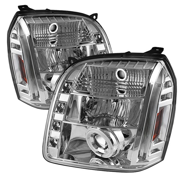 Spyder PRO-YD-GY07-CCFL-C:  GMC Yukon XL 07-12 CCFL LED ( Replaceable LEDs ) Projector Headlights - Chrome