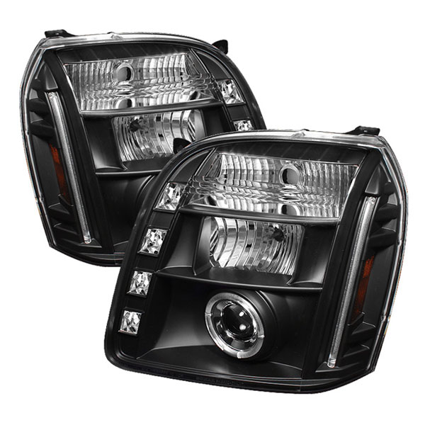 Spyder PRO-YD-GY07-HL-BK:  GMC Yukon 07-12 Halo LED ( Replaceable LEDs ) Projector Headlights - Black