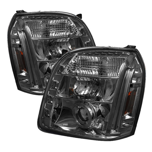 Spyder (5029348)  GMC Yukon 07-12 Halo LED ( Replaceable LEDs ) Projector Headlights - Smoke  - (PRO-YD-GY07-HL-SM)