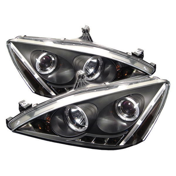 Spyder PRO-YD-HA03-AM-BK:  Honda Accord 03-07 Halo LED ( Replaceable LEDs ) Projector Headlights - Black