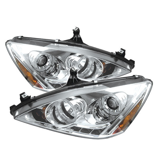 Spyder PRO-YD-HA03-AM-C: Spyder Honda Accord 03-07 Halo LED ( Replaceable LEDs ) Projector Headlights - Chrome