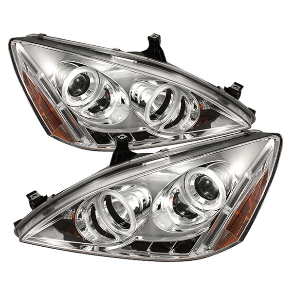 Spyder PRO-YD-HA03-CCFL-C:  Honda Accord 03-07 CCFL LED ( Replaceable LEDs ) Projector Headlights - Chrome