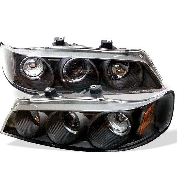 Spyder PRO-YD-HA94-AM-BK:  Honda Accord 94-97 1PC Halo Projector Headlights - Black