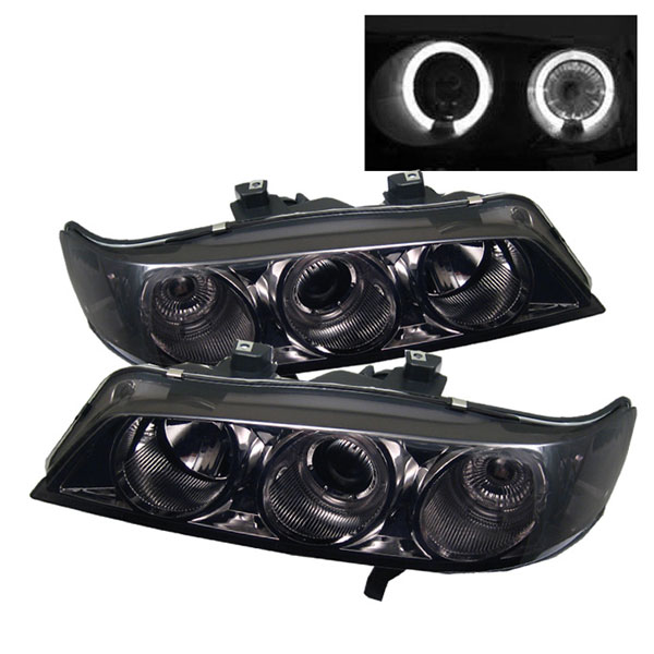 Spyder 5010711:  Honda Accord 94-97 1PC Halo Projector Headlights - Smoke  - (PRO-YD-HA94-AM-SMC)