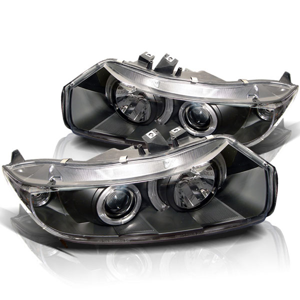 Spyder PRO-YD-HC06-2D-HL-BK:  Honda Civic 06-08 2Dr Halo Projector Headlights - Black
