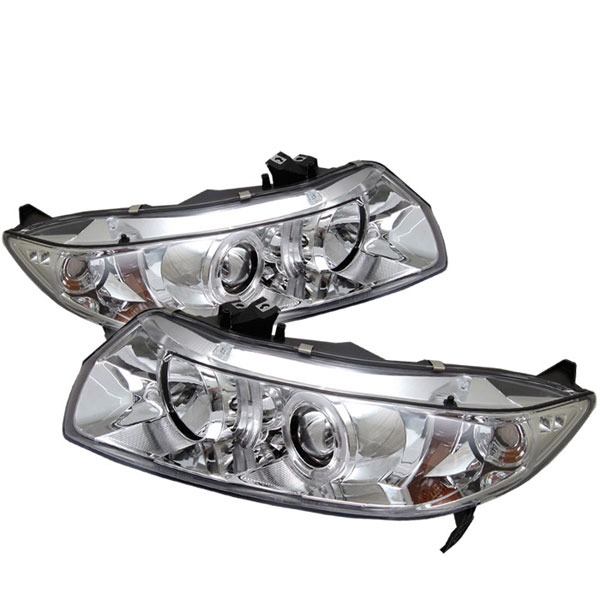 Spyder PRO-YD-HC06-2D-HL-C:  Honda Civic 06-08 2Dr Halo Projector Headlights - Chrome