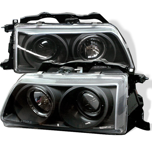 Spyder PRO-YD-HC90-HL-BK:  Honda Civic 90-91 Halo Projector Headlights - Black