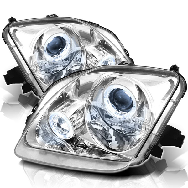 Spyder PRO-YD-HP97-HL-C:  Honda Prelude 97-01 Halo Projector Headlights - Chrome