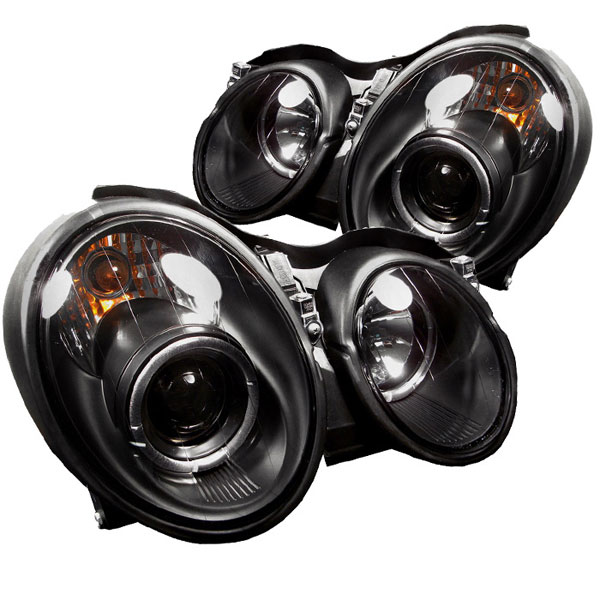 Spyder PRO-YD-MBCLK98-HL-BK:  Mercedes Benz Clk 98-02 Halo Projector Headlights - Black